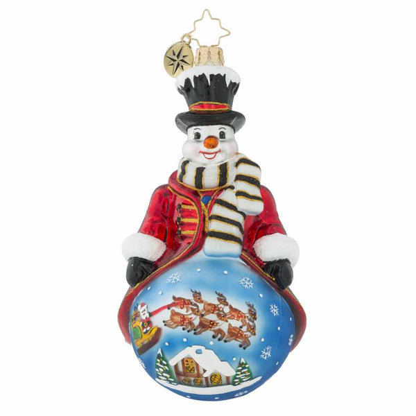 Christopher Radko A Shelter In The Storm Snowman Ornament