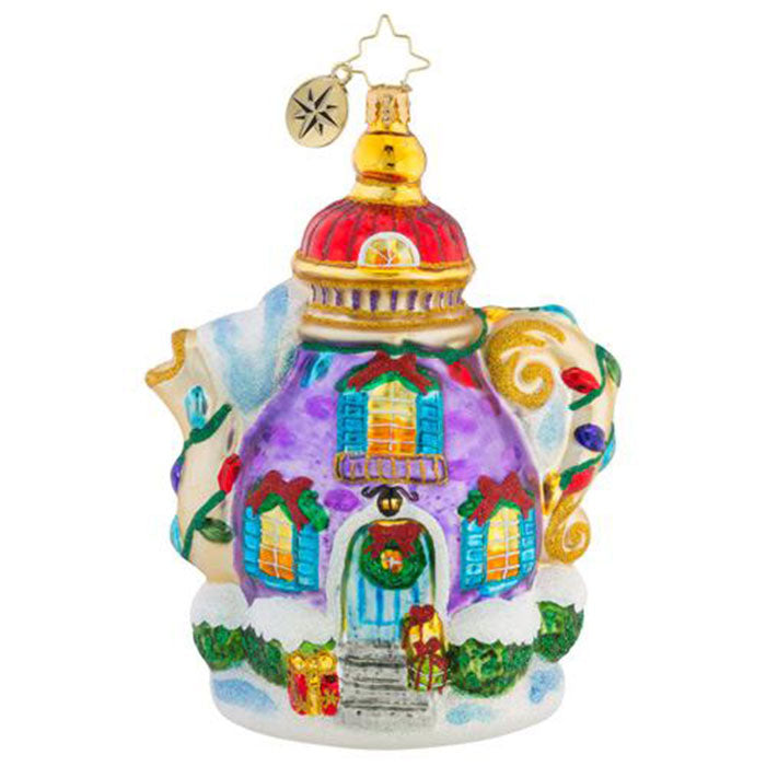 Christopher Radko A Tempting Tea Pot Spot Ornament New