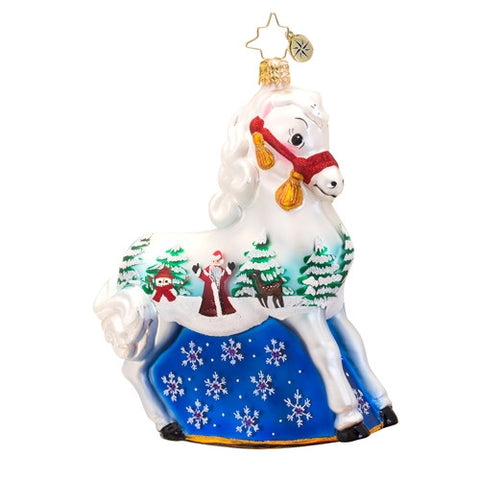 Radko A WINTER'S TALE PONY horse ornament NEW