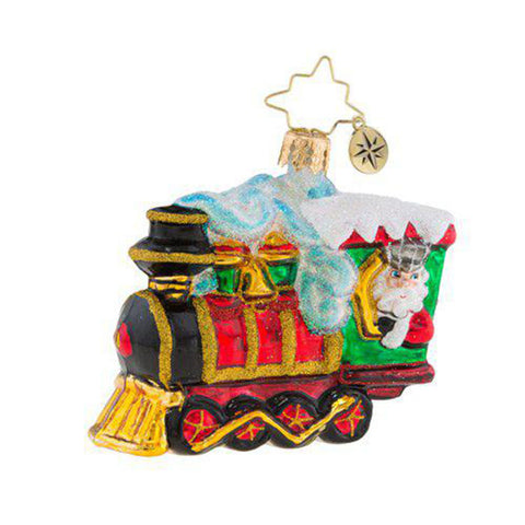 Christopher Radko All Aboard Train Little Gem Ornament New