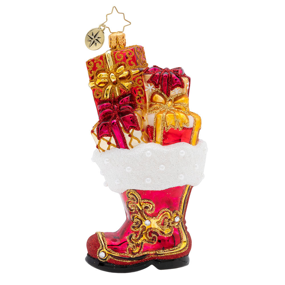 Christopher Radko All A-Boot it Santa Boot Ornament