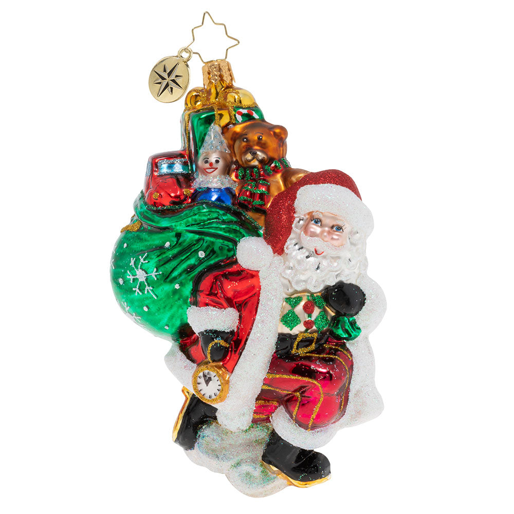 Christopher Radko Almost Time for Christmas Santa Ornament