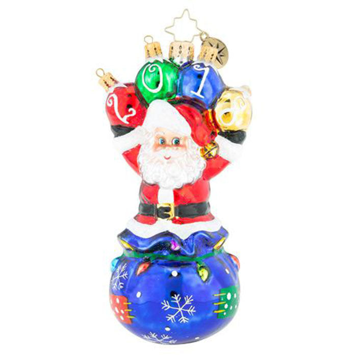 Christopher Radko  2018 Dated Amazing 2018! Santa Ornament