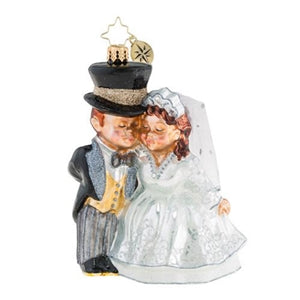 Christopher Radko An Altared State Wedding Couple Ornament