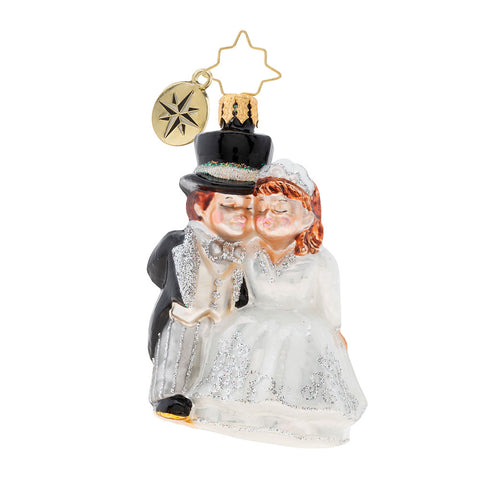 Christopher Radko An Altared State Gem Wedding Ornament
