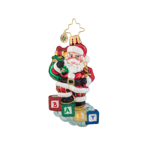 Christopher Radko 2019 Dated Baby Steps Gem Santa Ornament