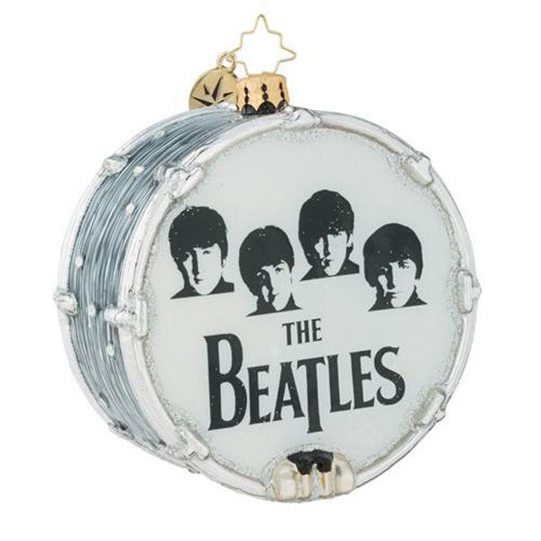 Christopher Radko the Beatles Beat-le Mania Drum Ornament