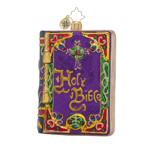 Radko Beautiful Testament Bible Ornament New 2016