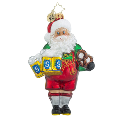 Radko Biergarten Claus Beer Santa Ornament New
