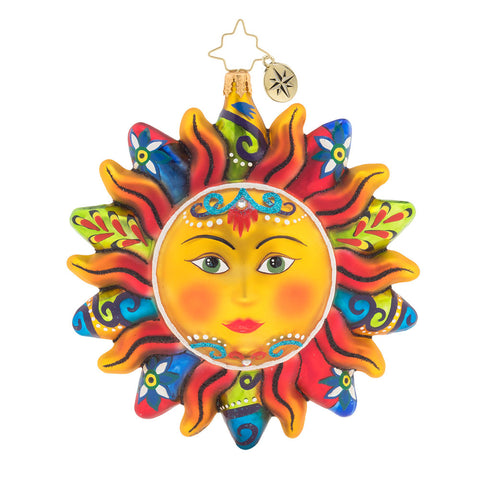 Christopher Radko Blazing Sun Aztec Christmas Ornament