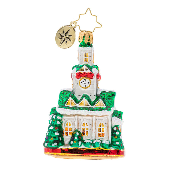 Christopher Radko Blessed Gathering Little Gem Church Ornament