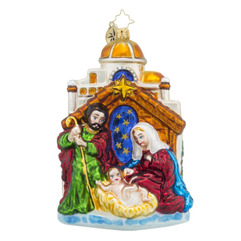 Radko Blessed Gift Nativity Christmas Ornament New
