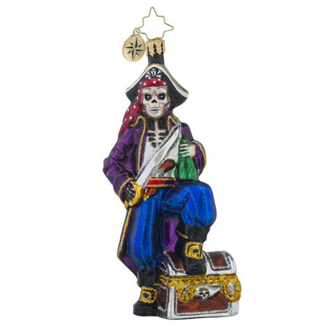 Radko Boney Buccaneer Pirate Ornament New 2016