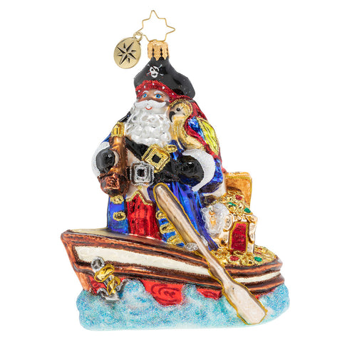 Christopher Radko Buccaneer Santa Pirate Ornament