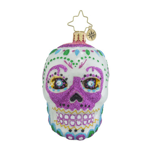 Radko La Calavera White Little Gem Sugar Skull ornament New 2016