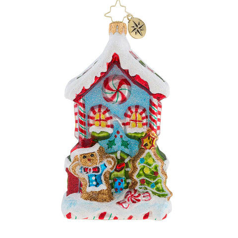 Christopher Radko Candy Cane Cottage House Ornament