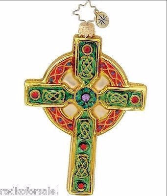 Radko CELTIC CHRISTMAS Irish Cross ornament NEW