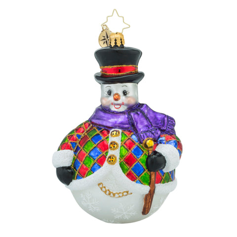Christopher Radko CHILLY QUIN Snowman Ornament