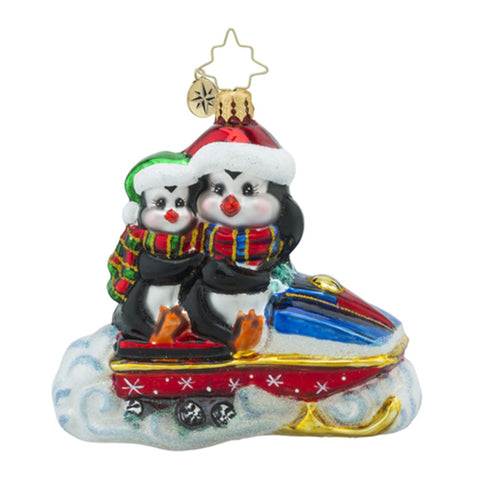 Radko Chilly Ramble Jet Ski Penguin Snow Ornament SALE