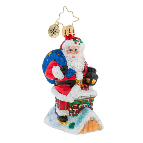 Christopher Radko Chimney Climber Santa Little Gem Ornament New 2018