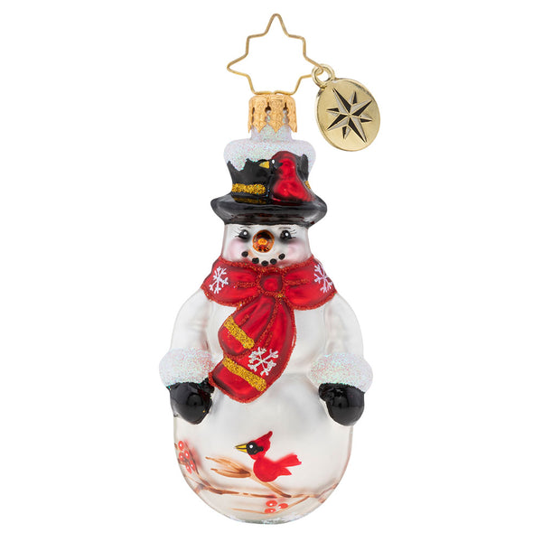 Christopher Radko Christmas Cardinal Keeper Snowman Gem Ornament