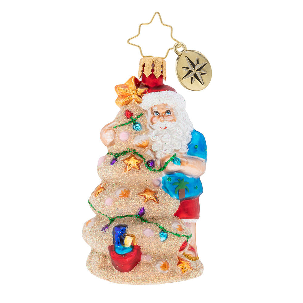 Christopher Radko Christmas In The Sand Gem Beach Santa Ornament