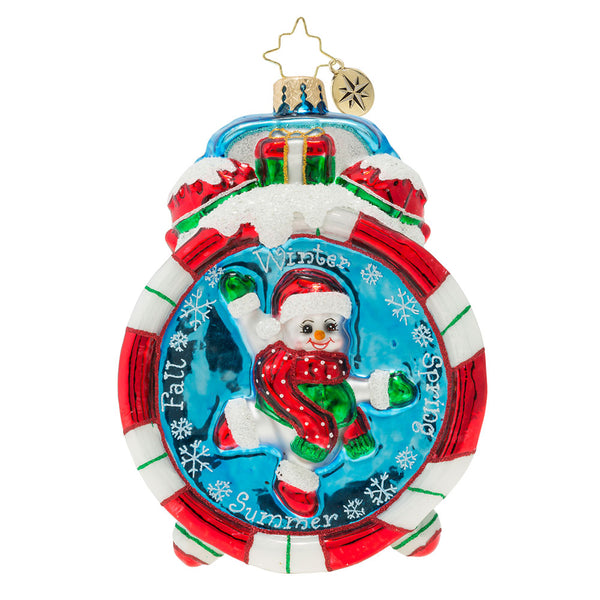 Christopher Radko Christmas Time Candy Clock Ornament