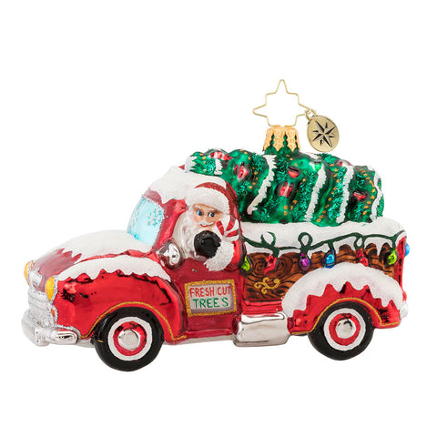 Christopher Radko Christmas Tree Delivery Truck Ornament