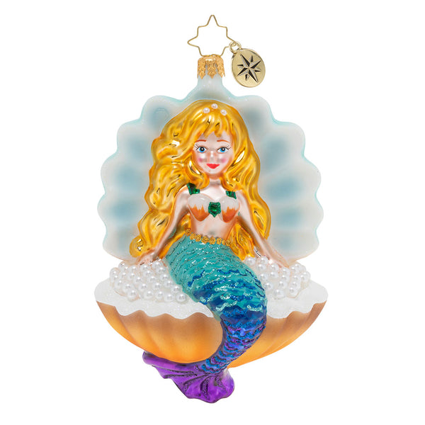 Christopher Radko Collecting Pearls Mermaid Ornament