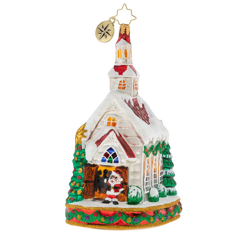 Christopher Radko Come One Come All Church Ornament