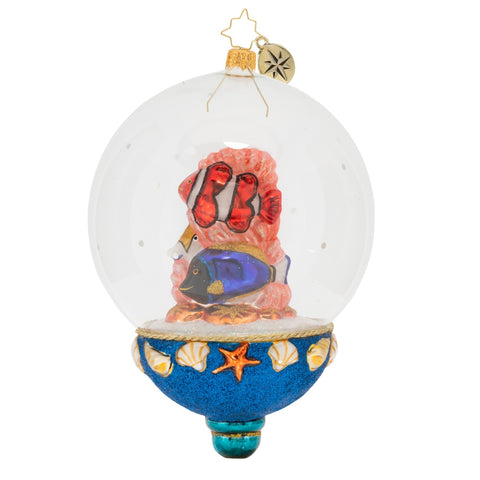 Christopher Radko A Fine Fish Bowl Coral Reef Nemo ornament NEW