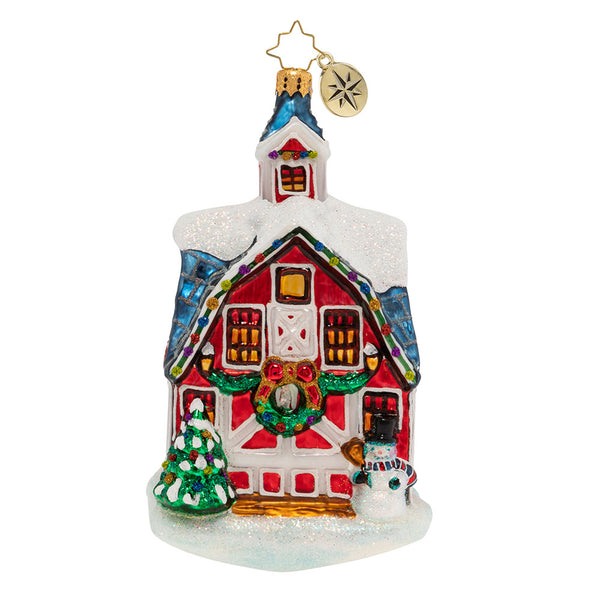 Christopher Radko Country Christmas Barn Ornament