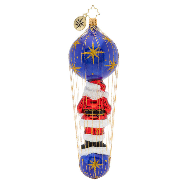 Christopher Radko Dashing Santa Delivery Wired Ornament
