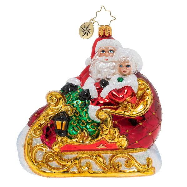 Christopher Radko Date Night Mr & Mrs Claus Ornament