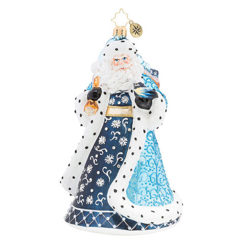 Christopher Radko Debonair Winter Santa Ornament