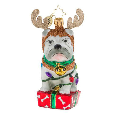 Christopher Radko Deer Little Bull Dog Bulldog Ornament