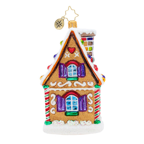 Christopher Radko Delicious Treasure Gingerbread House Ornament