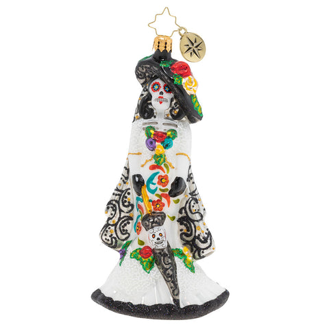 Christopher Radko Dia De Los Muertos Beautiful Bride Ornament