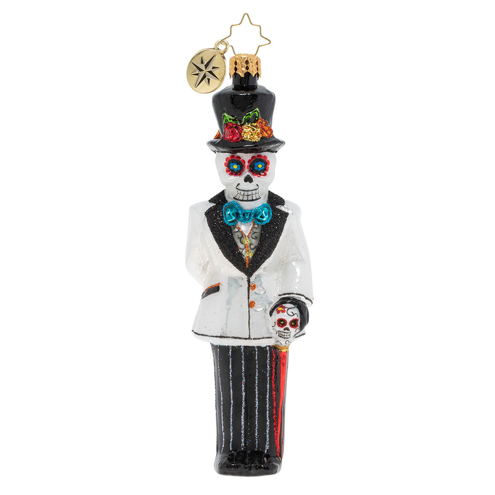 Christopher Radko Dia De Los Muertos Dapper Groom Ornament
