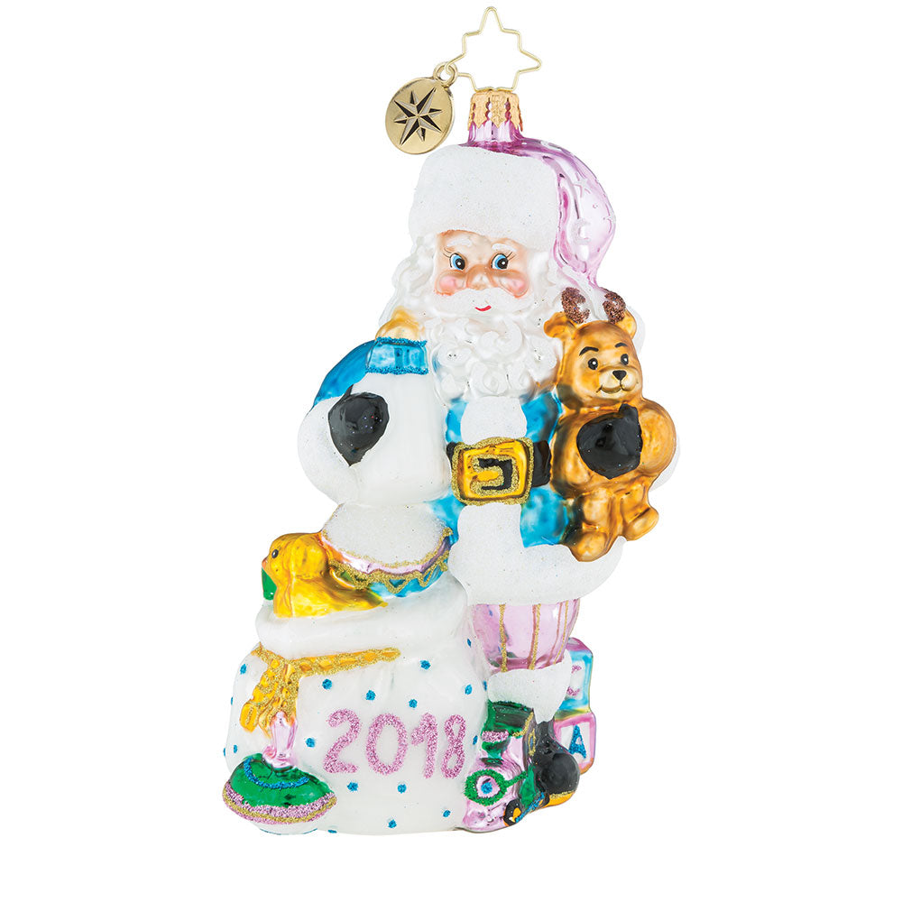 Christopher Radko  2018 Dated Diaper Duty Santa Baby Ornament