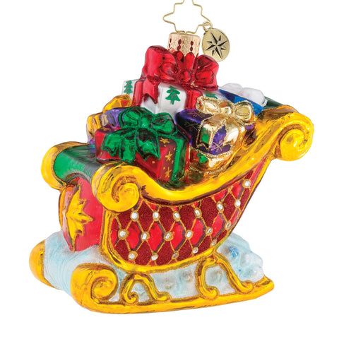 Christopher Radko Double-Parked Presents Sleigh Ornament