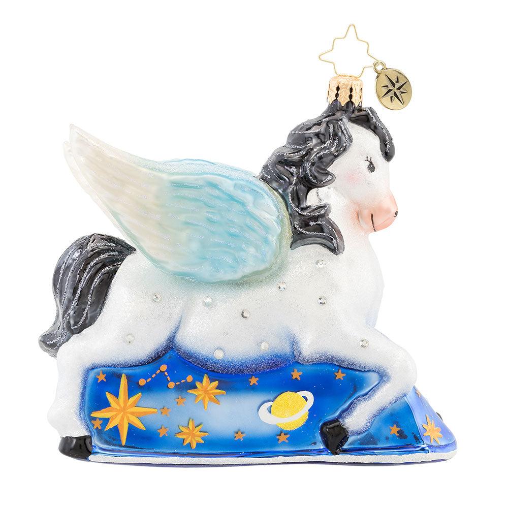 Christopher Radko Dreaming of Pegasus Flying Horse Ornament 60% off