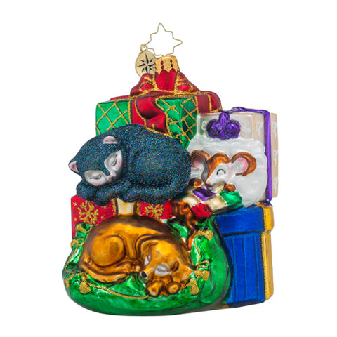 Radko Drowsy Dreamers Cat & Dog ornament New