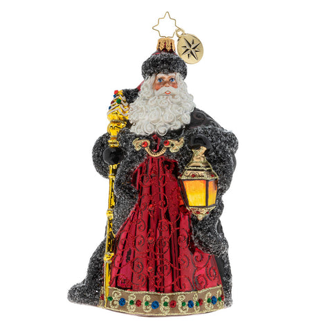 Christopher Radko Ebony Clad Mr Claus Santa  Ornament