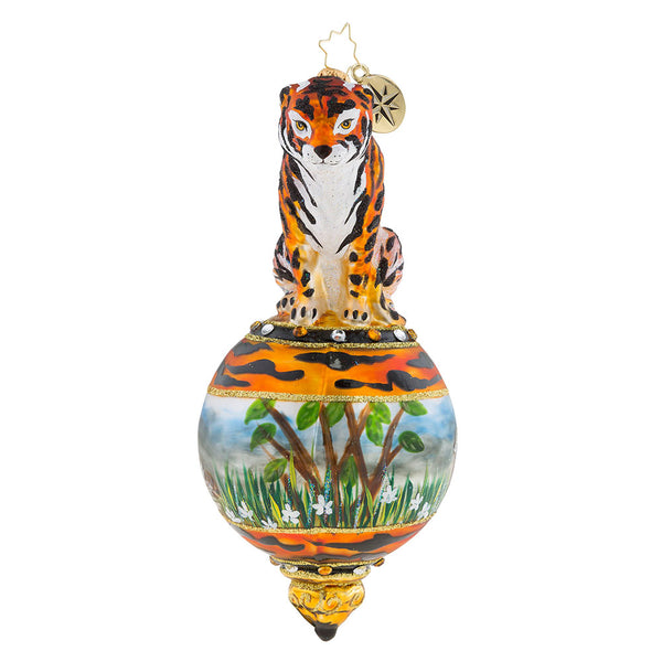 Christopher Radko Eye Of The Tiger Jungle Ornament