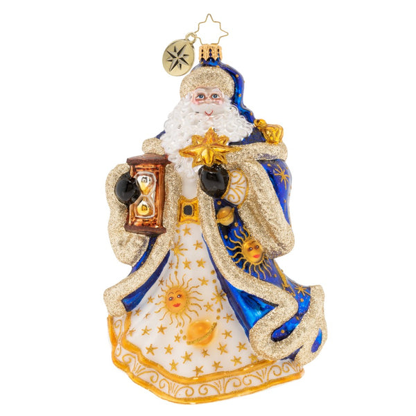 Christopher Radko Celestial Santa Moon Ornament