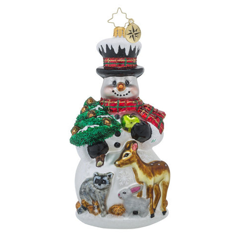 Radko Feast for Friends Snowman &  Deer Ornament