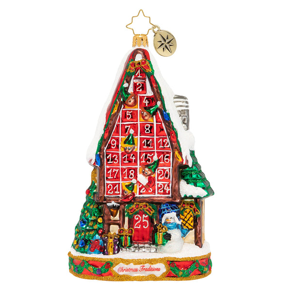 Christopher Radko Festive Advent Calendar House Ornament