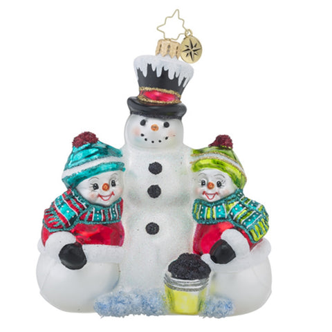Radko Frosty Friends Snowman Christmas Ornament New