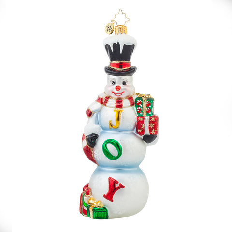 Radko FROSTY JOY Snowman Christmas ornament NEW